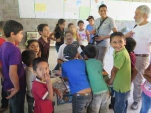 Rigoberto and Ed at a local school