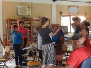 Health Volunteers Stretching