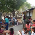 At the clinic in Santa Teresita