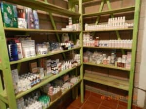 After many hours of organizing the pharmacy the brigade was ready to see patients.The brigade brought many of medications and also had a pharmacist to work with the doctors