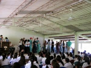 Parting celebrations at Camasca high school