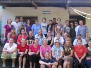 The whole group on the last day in Agua Salada